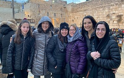 The Cincinnati pilot group in Israel last December. Photo provided by Sharon Spiegel.