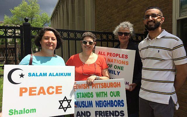 From left: Dana Kellerman, Naomi Weisberg Siegel, Marylinda Maddi, Mohammad Sajjad (Photo by Toby Tabachnick)