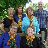 Front:  Ina Sable and Marcia Stewart; Back:  Renee Abrams, Jeanne Pim, Marlene Haus and Mark Pim. Photo courtesy of Renee Abrams