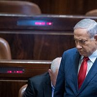 Israeli Prime Minister Benjamin Netanyahu seen after a vote on a bill to dissolve the parliament, at the Knesset, in Jerusalem on May 30, 2019. Photo by Yonatan Sindel/Flash90  *** Local Caption *** ?????? ????? ???? ????? ?????? ???? ????? ????? ????? ????? ????? ????  ?????? ??????