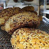 Fresh bagels from Pigeon Bagels. Photo by Adam Reinherz