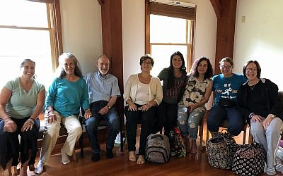 From left: Maggie Feinstein, Ellen Leger, Dan Leger, Marnie Fienberg, Marissa Weis, Michelle Simon Weis,Leigh Stein and Sharyn Stein (Photo provided by Leigh Stein)