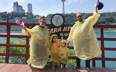 The Ohayon family enjoying Niagara Falls. Photo courtesy of Orel Ohayon
