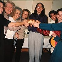 Members of the Jewish Women's Center celebrating Shabbat. (Photo provided by Julie Newman)