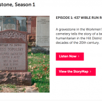 Website interface for Rauh Archive's new podcast. (Screenshot)