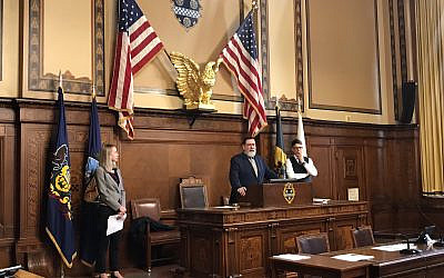 Mayor Peduto speaks during the Oct. 8 event.   Photo courtesy of the Office of the Mayor.