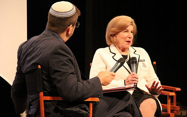 Following her conversation with Rabbi Ron Symons, NPR correspondent Nina Totenberg reflected on past reporting and addressed her personal connection to a particular story. Photo courtesy of Jewish Community Center of Greater Pittsburgh
