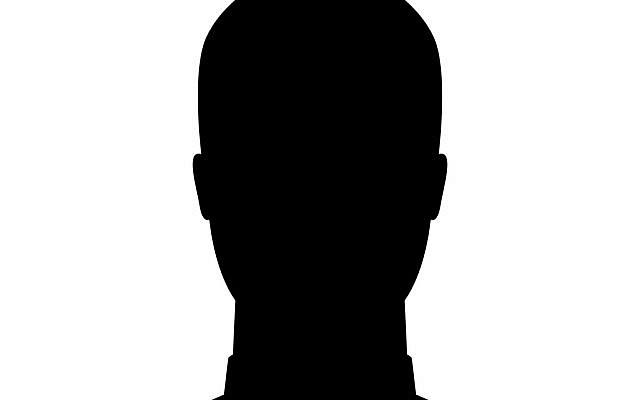 Male silhouette as avatar profile picture
