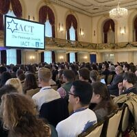 More than 300 college students came to Pittsburgh to learn how to fight anti-Semitism and anti-Zionism on campus. (Photo by Toby Tabachnick)