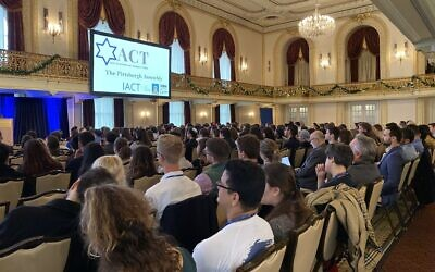 More than 300 college students came to Pittsburgh in 2019 to learn how to fight anti-Semitism and anti-Zionism on campus. (Photo by Toby Tabachnick)