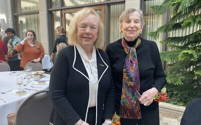 LHAS past presidents Marcia Weiss (left) and Eileen Finestone (Photo by Toby Tabachnick)