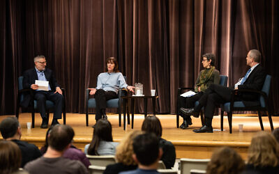 Panelists discuss resiliency and teen mental health during the Nov. 3 program. Photo by Scotland Huber/Jewish Healthcare Foundation