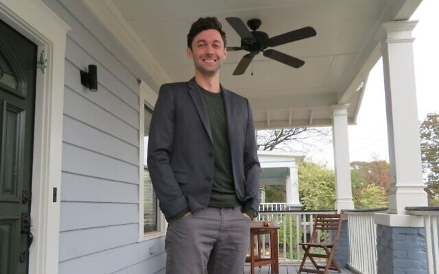 Jon Ossoff poses on his porch in Atlanta, Nov. 21, 2019. The film company CEO is running for the Senate after narrowly missing an upset bid for the House in 2017. Photo by Ron Kampeas