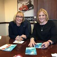 Laura Landerman-Garber, right, and Senator Maggie Hassan (New Hampshire). Photo courtesy of Laura Landerman-Garber