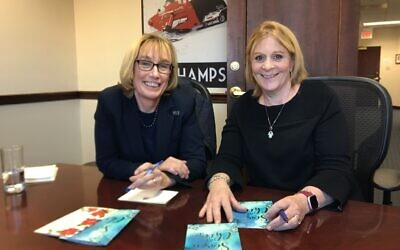 Laura Landerman-Garber, right, and Senator Maggie Hassan (New Hampshire). Photo courtesy of Laura Landerman-Garber