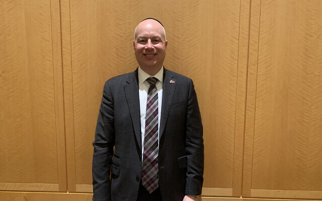 Jason Greenblatt after speaking at Congregation Keter Torah in Teaneck, New Jersey, Jan 12, 2020. Photo by Josefin Dolsten