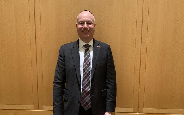 Jason Greenblatt after speaking at Congregation Keter Torah in Teaneck, New Jersey, Jan 12, 2020. Photo by Josefin Dolsten