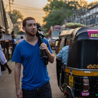 Drew Goldberg, seen here in Kerala, India, makes a living traveling the world and posting about it on social media.  Photo courtesy of Drew Goldberg via JTA.org