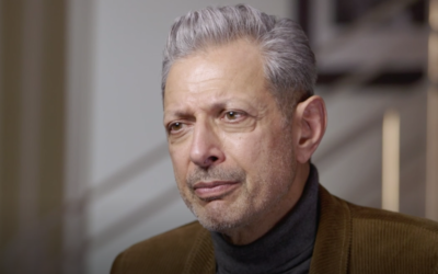"Jeff Goldblum on an episode of ""Finding Your Roots."" Screenshot from PBS via JTA.org"