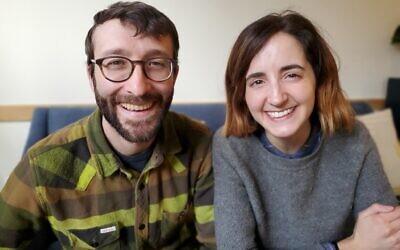 Creatives Boaz Frankel and Brooke Barker find value in weirdness. Photo by Adam Reinherz