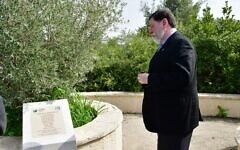 Since the Oct. 27, 2018 shooting, Mayor Bill Peduto has memorialized those murdered, including during a visit to Israel. (Photo by Rafi Ben Hakun, KKL-JNF)