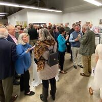 Gallery opening event (Photo by Amy Fisher)