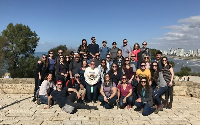 Honeymoon Israel participants in Jaffa, Tel Aviv. Photo courtesy of Jewish Federation of Greater Pittsburgh