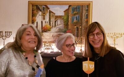 Mavra Stark, Lori Levin, Susan Forrest, members of the  Pittsburgh Secular Jewish Community. (Photo provided by Susan Forrest.)