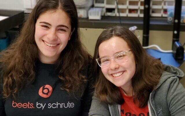 Maya Davis, left and Shira Weisenfeld.  Photo courtesy of Hillel Academy of Pittsburgh