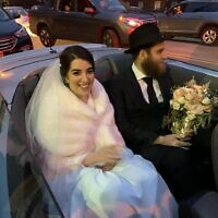 Chanie and Shneur Chein on their wedding day. Photo provided by Shulamis Rothman