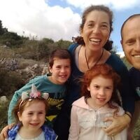 Kim Salzman, the Jewish Federation of Greater Pittsburgh's director of Israel and overseas operations, and her family, are feeling the impact of restricted travel in Israel. Photo provided by Kim Salzman.