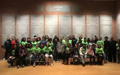 Students from the Barack Obama Academy of International Studies who took part in ZOA's trip to the United States Holocaust Memorial and Museum.Photo by Phyllis Roberts