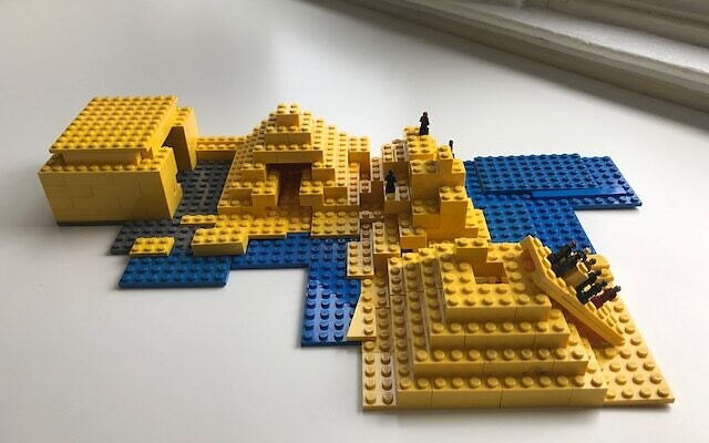 Families at Rodef Shalom Congregation competed in a Passover LEGO challenge. The theme was Egypt.     Photos courtesy of Yael Eads