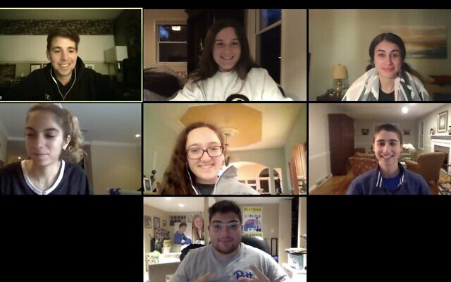 The Pitt Hillel Board discusses virtual programming for students over Zoom. Photo courtesy of Ryan Covitt