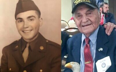 Guy Prestia as a soldier in the 45th Infantry Division and today Photos provided by Patty Partington