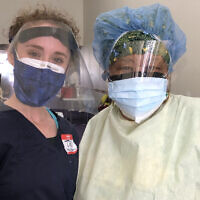 Medical student Tal Lee, left, and nurse Michele Morton are working with the Black Doctors COVID-19 Consortium to provide free coronavirus testing. Photo courtesy of Lee via JTA.org