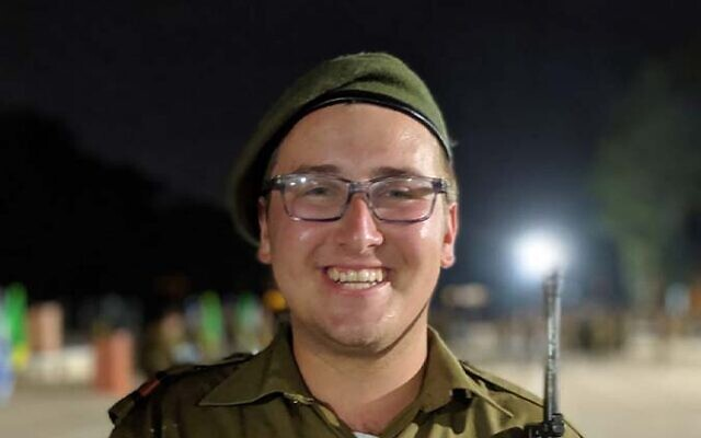 Pittsburgh native and Israeli lone soldier Pvt. Jacob Wiesenfeld, technical assistance in the Northern Command. Photo courtesy of Pvt. Jacob Wiesenfeld.