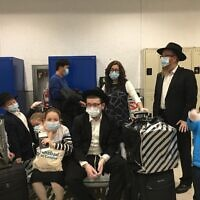 Rabbi Yehoshua Rosenblum and his family begin their journey from Caracas, Venezuela. Photo provided by Rabbi Yehoshua Rosenblum.