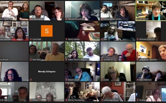 Over 250 members of the Pittsburgh Jewish Community participated in a Zoom Q&A with Rivka Slonim presented in partnership will all of the local Chabad Centers. Screenshot provided by Rabbi Yisroel Altein.