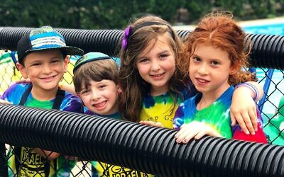 Campers at Chabad of Squirrel Hill's Camp Gan Izzy day camp. Photo courtesy of Rabbi Yisroel Altein.