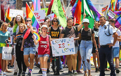 Around 250,000 people marched in the 2019 Tel Aviv Pride Parade. (Laura E. Adkins)