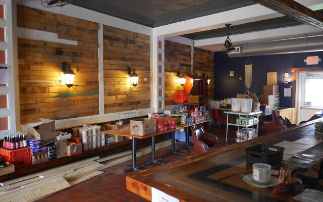 Scratch Food & Beverage has converted into a pay-what-you-can restaurant complete with a small market of household needs. Photo courtesy of Don Mahaney.