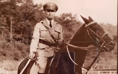Philip Rudin on his horse (Photo courtesy of James Rudin)