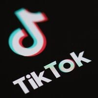 Logo of the social network application Tik Tok on the screen of a phone. (Martin Bureau/AFP via Getty Images)