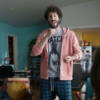 "Dave Burd, aka the rapper Lil Dicky, in a scene from his FX show ""Dave."" Photo by Ray Mickshaw/FX via JTA.org"