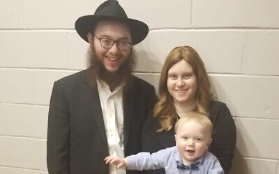 Rabbi Dovie , Mushkie and Yossele Kivman. Photo provided by Rabbi Dovie Kivman.