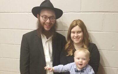Rabbi Dovie , Mushkie and Yossele Kivman. Photo provided by Rabbi Dovie Kivman.