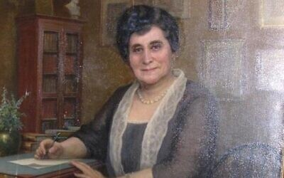 Bertha Rauh had known Martin Leisser for more than 50 years by the time he painted her portrait in 1926. (Image courtesy Rauh Jewish Archives)