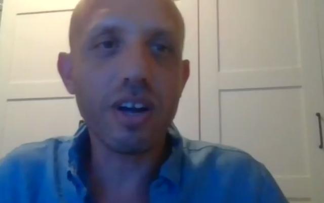 Israeli filmmaker Dan Shadur. Screen shot by Adam Reinherz