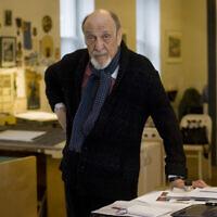 Milton Glaser in his New York studio in 2014. Photo by Neville Elder/ Corbis via Getty Images via JTA